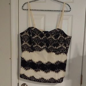 Lace bustier top